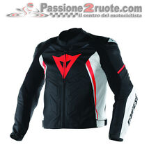 Giacca pelle Dainese Avro D1 Nero Bianco Rosso Black White Red leather Jacket