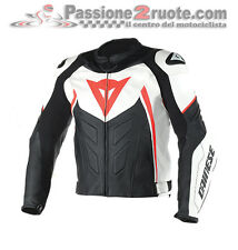 Giacca pelle Dainese Avro D1 Bianco Nero Rosso White Black Red leather Jacket