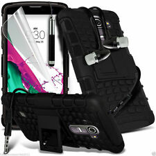 Shockproof Dual Layer Heavy Duty Case Cover+In Ear Stereo Headset for LG