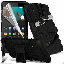 Shockproof Dual Layer Heavy Duty Case Cover+In Ear Stereo Headset for OnePlus