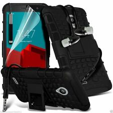 Shockproof Dual Layer Heavy Duty Case Cover+In Ear Stereo Headset for Vodafone
