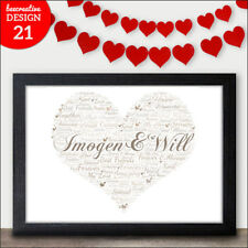 Disney Valentines Gifts - Personalised Word Art Presents Him Her I Love You Gift
