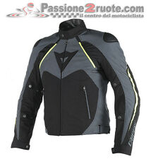 Giacca Dainese Hawker D-Dry Nero Ebony Giallo-Fluo Moto Jacket