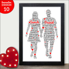 Personalised Mickey Minnie Mouse Word Art Print Disney Gift Valentines Day Love