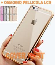 CUSTODIA COVER BUMPER ULTRA SLIM IN TPU PER Apple iPhone 5 5S  + PELLICOLA LCD