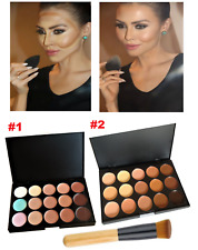 New 15 Color Contour Face Makeup Cream Concealer Camouflage Palette Kit + Brush