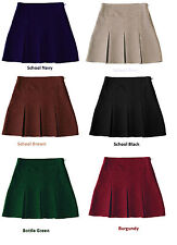 Girls School Wear School Uniform Girl 6 Pleat Secondary School Skirt Skirts New