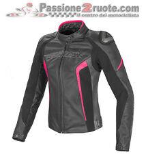 Giacca pelle donna Dainese Racing D1 lady Nero Fucsia Black Moto leather Jacket