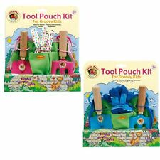 Little Pals Garden Tool Pouch Kit in Pink or Blue 3+ Childrens Gardening Set
