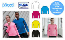 AWDis JC012 Long Sleeve Cool T Shirt Top Wickable Breathable Running Training