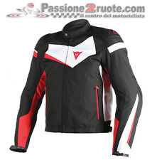 Giacca Dainese Veloster Tex Nero Bianco Rosso moto jacket