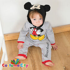 Babys Toddlers Official Disney Mickey Mouse Romper Fancy Dress Party Costume