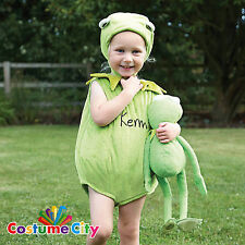 Babys Toddlers Official Disney Muppets Kermit the Frog Fancy Dress Party Costume