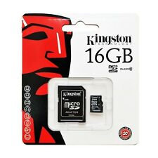 MEMORIA KINGSTON 4GB 8GB 16GB 32GB 64gb SECURE DIGITAL MICRO SD ADATTATORE PEN