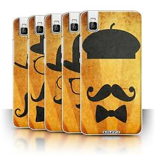 STUFF4 Phone Case/Back Cover for Huawei Honor 7i/ShotX /Retro Moustache