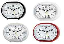 ACCTIM SILENT SWEEP DESK TABLE ALARM CLOCK IN FOUR COLOURS