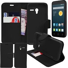 Vodafone Smart First 6 Wallet Book Leather Case Cover with Stylus & Screen Film