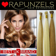 "18"" Nano ring tip human hair extensions 1 gram indian remy grade AAA micro bead"