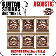 Ernie Ball PHOSPHOR BRONZE (ex-SLINKY) Acoustic Guitar Strings - ALL GAUGES