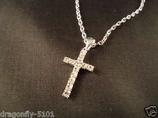 First Holy Communion Diamante Cross Pendant Necklace GIFT by Elizabeth*SRAJD