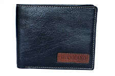 Woodland Mens Black Original Leather Wallets - W524004