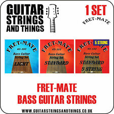 Fret-Mate ROUNDWOUND Bass Guitar Strings - ALL GAUGES 4 and 5 String