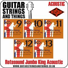 Rotosound JUMBO KING Phosphor Bronze Acoustic Guitar Strings - ALL GAUGES
