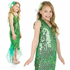 Childrens Green Little Mermaid Fancy Dress Costume Fairy Tale Outfit 4-12 Yrs
