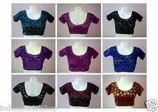 Strechable Velvet Saree Blouse Assorted Colours Size 32-36