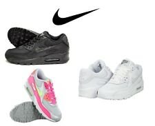 New Nike Max 90 GS Mesh Black, White, Pink for Girls,Women's Lace up Trainers