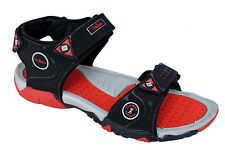 Unique Brand Mens Black Red Casual Sports Sandal - SS 411
