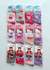 HELLO KITTY MINNIE PEPPA PIG PACK DE 4 HE CALCETINES MEDIAS TALLA 23 - 37