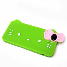 Brand New Cute Kitty Bow Soft Silicone Phone Case Cover 3D Design fits iPhone 5