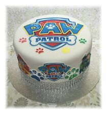 PRECUT EDIBLE PAW PATROL ICING TOPPERS MIXED SIZES FAB FOR CAKES OR CUPCAKES