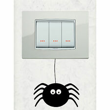 WALL STICKER RAGNO SPIDER - ADESIVO MURALE INTERRUTTORE DECORAZIONE CASA