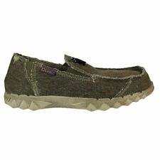 Dude Farty Classic Chocolate, canvas slip on mule