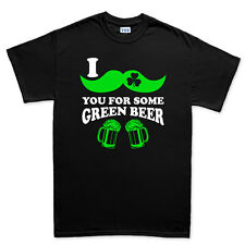 Moustache Mustache Green Beer Irish St Patrick's Day Shamrock T shirt