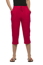 Clifton Womens Solid Capri - Fushia Red