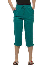 Clifton Womens Solid Capri - Rama Green
