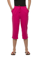 Clifton Womens Solid Capri - Rani Pink