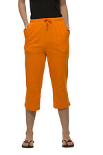 Clifton Womens Solid Capri - Bright Orange