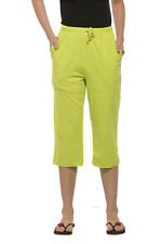 Clifton Womens Solid Capri - Lime Green
