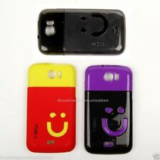 Rubberised Glossy Hard + Soft Back Cover for Micromax A110 Canvas 2