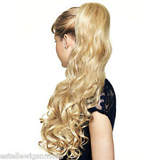 HAIR COUTURE BY SLEEK LONG VOLUME CURLS|WAVY| SYNTHETIC PONYTAIL-LILACS