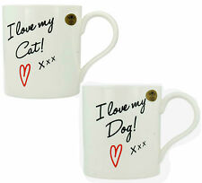 I love My Dog/Cat Lesser & Pavey Fine China Mug LP91937/LP91938