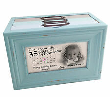 This is your life 35th birthday or any age, personalised memory box photo album