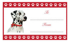 Dalmatian Christmas Birthday Gift labels Sticker Dog Animal Pet Lover