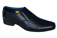 BATA BRAND MENS ORIGINAL LEATHER BLACK SLIPONS FORMAL SHOES 6513