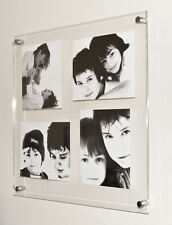 """Floating ACRYLIC 24x24"""" 10mm WALL MULTI  PICTURE PHOTO FRAME for 4x 9x7"""" foto"""