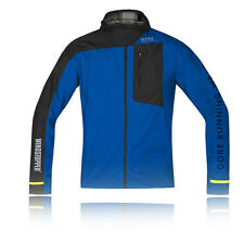 Gore Fusion Windstopper Active Shell Uomo Blu Nero Antivento Giacca Top